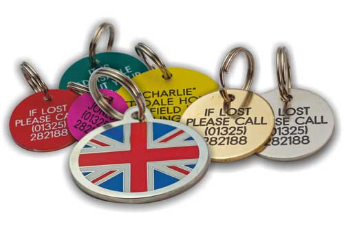 Wide range of different collar tags